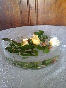 centre de table de 29cm de diamètre 11 cm de hauteur en verre transparent verre très épais ne risque pas de casser lors de la manipulation